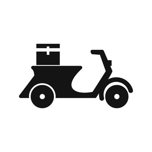 Ícone de moto de entrega de vetor