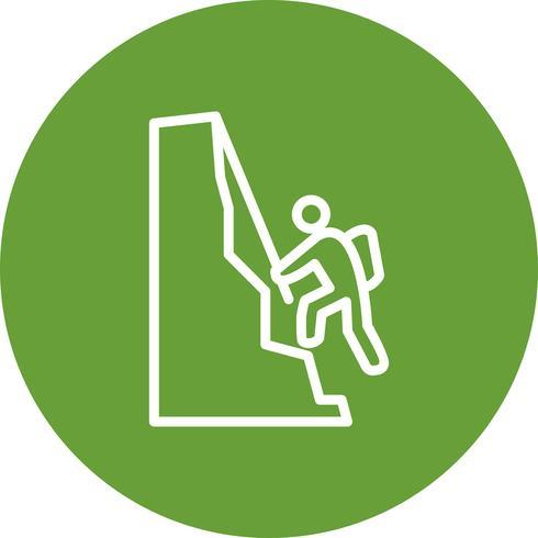 Ilustração em vetor ícone escalada