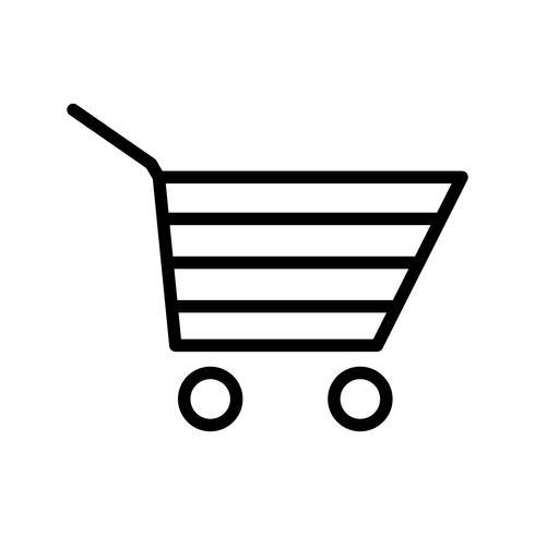 Winkelwagen pictogram vectorillustratie