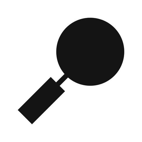 Vergrootglas pictogram vectorillustratie