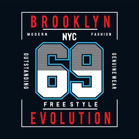 fri stil typografi för t-shirt grafik