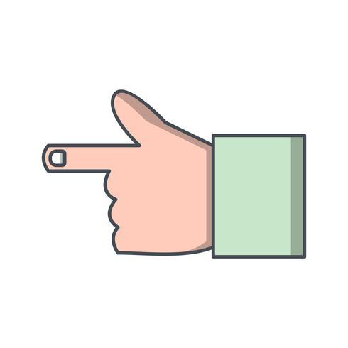 Hand pictogram vectorillustratie
