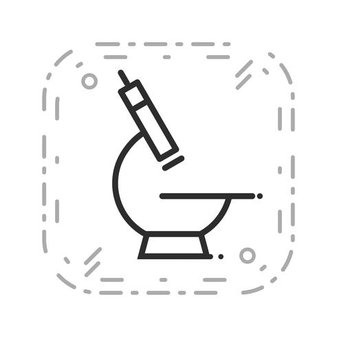 Vector microscoop pictogram