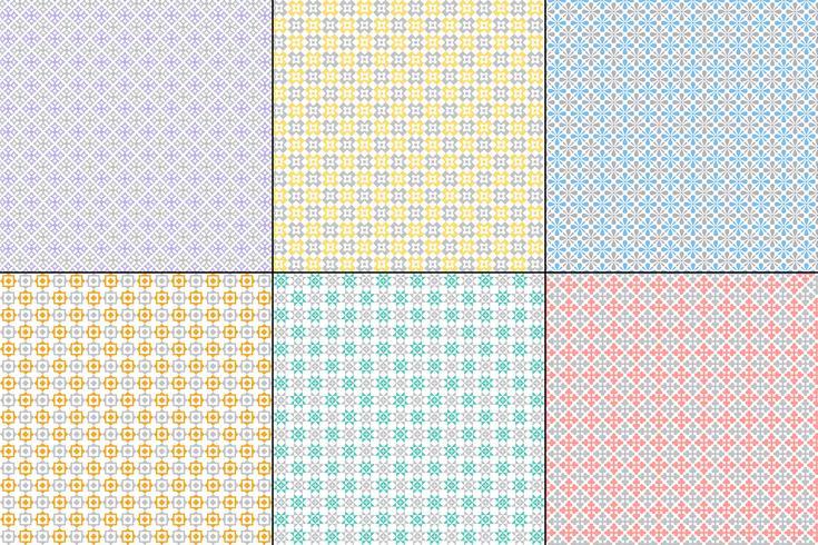 padrões de colcha geométrica pastel com cinza