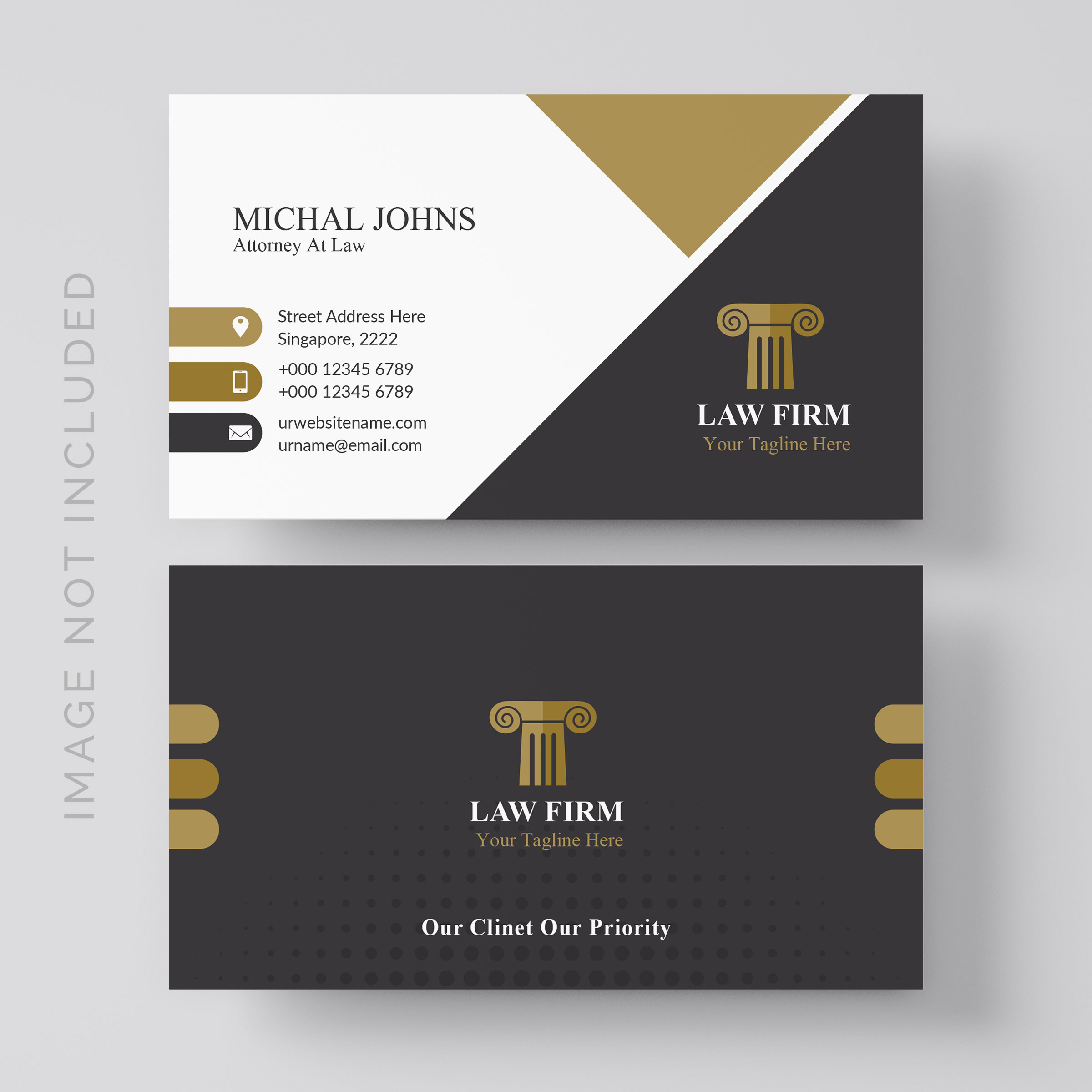 lawyer business card free vector art