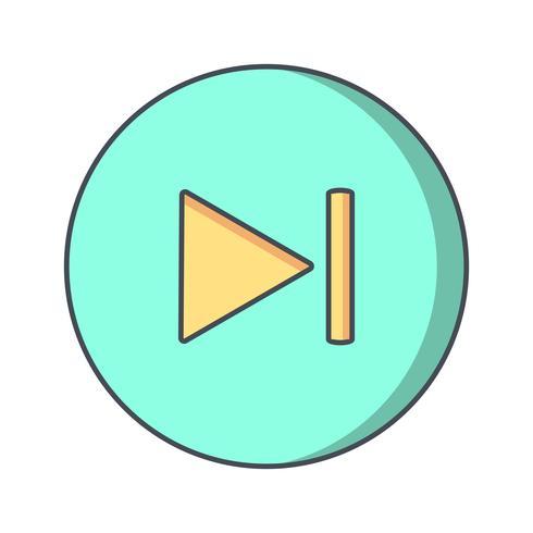 Icona successiva Illustrazione vettoriale