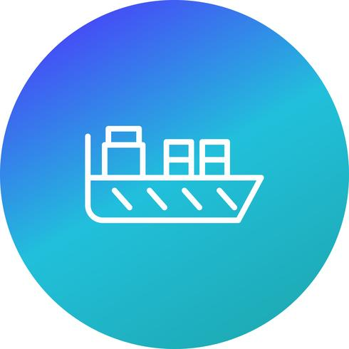 Vector schip pictogram