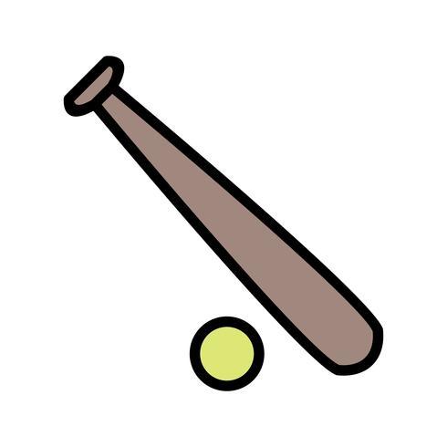 Basis en bal pictogram vectorillustratie