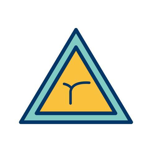 Vector kruising van bocht vooruit Road Sign pictogram