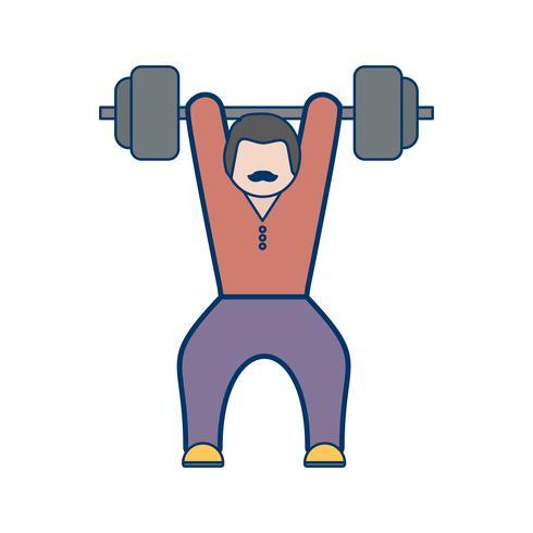 Gewichtheffen pictogram vectorillustratie