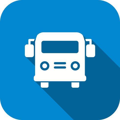 Ícone de ônibus escolar de vetor