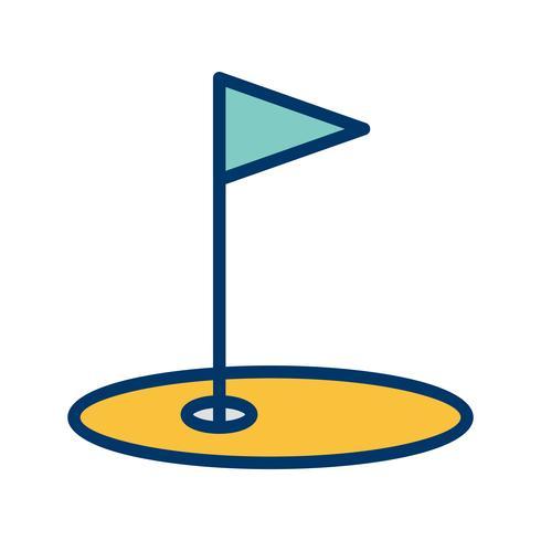 Golf pictogram vectorillustratie