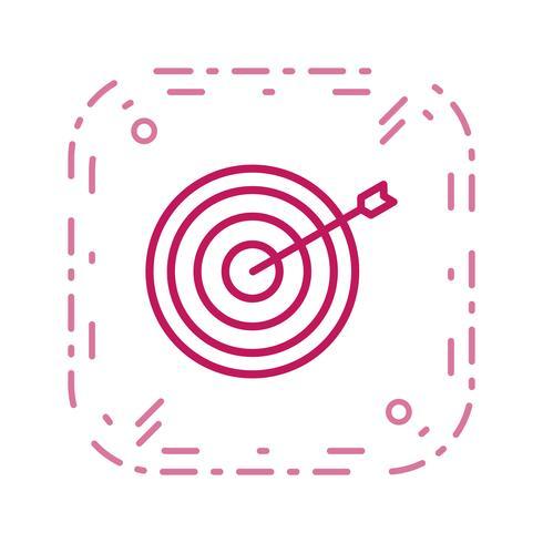 Bullseye pictogram vectorillustratie