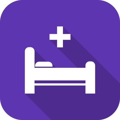 Icona del letto vettoriale