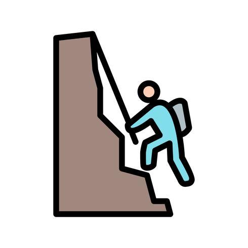 Icono de escalada ilustración vectorial