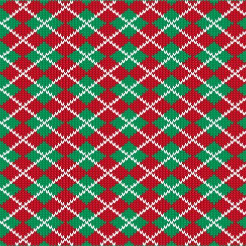 motif tricoté en losanges