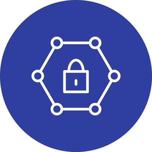 Vector icono de red protegida
