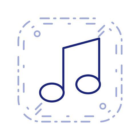 Muziek Opmerking Pictogram Vectorillustratie