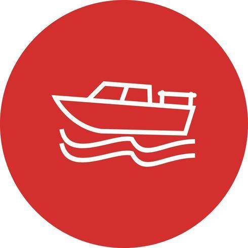 Vector icono de barco