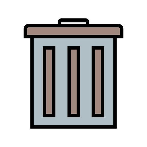 Vector icono de basura