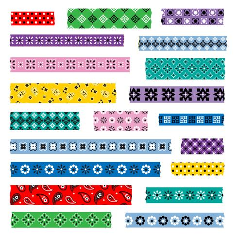 bandana washi tape patterns