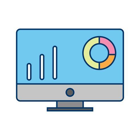 Icona di grafici vettoriali