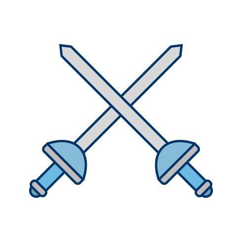 Fechten-Ikonen-Vektor-Illustration