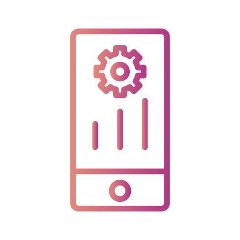 Vector mobiele marketing pictogram