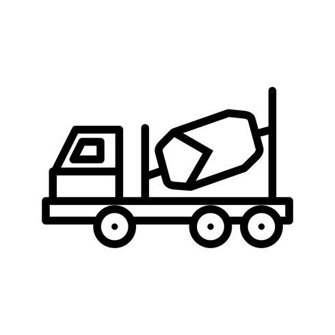 Vector icono de mezclador de concreto
