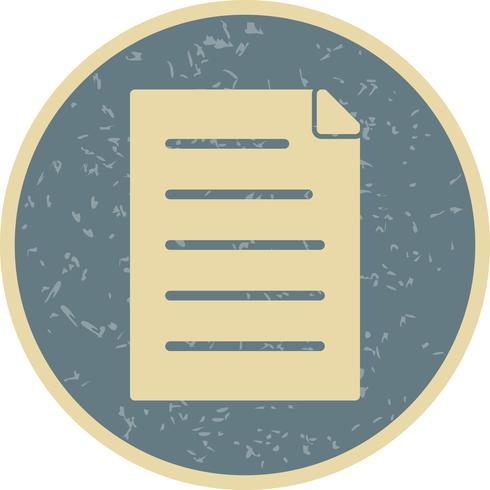 Icona del documento vettoriale