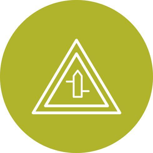 Vector Cruces menores de izquierda a derecha Icono de signo de carretera