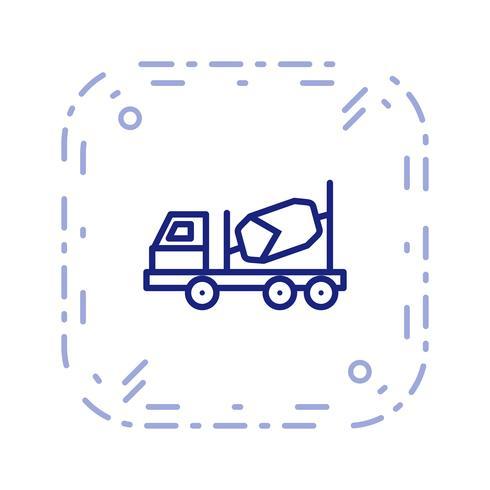 Vektor-Betonmischer-Symbol