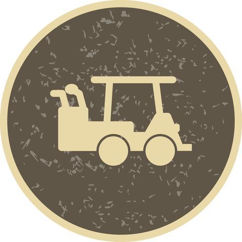 Icona del carrello di golf di vettore