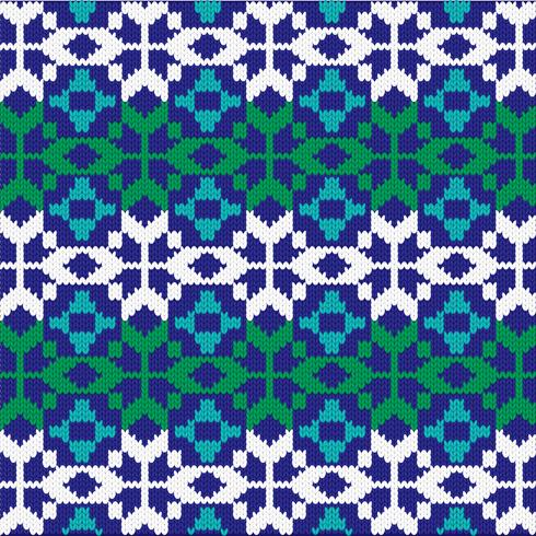 patrón nórdico de punto vector