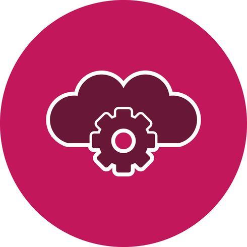 Icono de Vector Cloud Settings