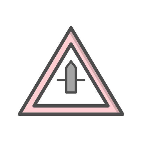 Vector Minor Cross Road Sign Icon