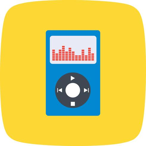 Music Player Icon Vector Illustration