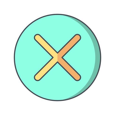 Cancelar icono de ilustración vectorial vector