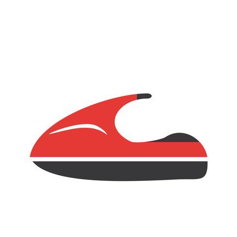 vektor jet ski ikon