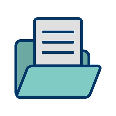Vector Document in Folder Icon