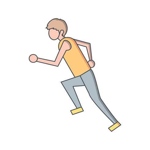 Runner Icon Vector Illustration