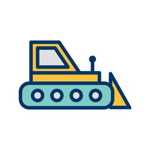Icona di vettore Bulldozer