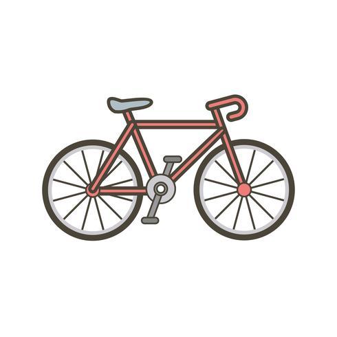 Icône de vélo de vecteur