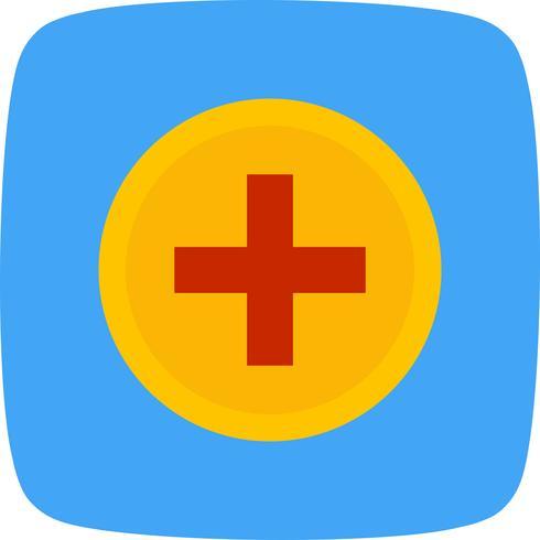 Vector icono de signo médico