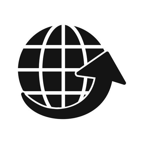 Icona di vettore intorno al mondo
