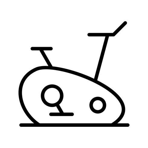 Vélo d'exercice icône illustration vectorielle vecteur