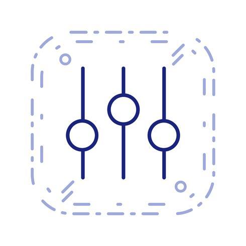 Réglage icône illustration vectorielle