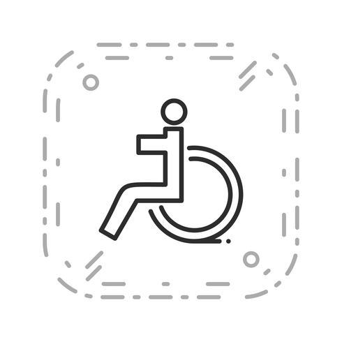 Icône de vecteur handicapé