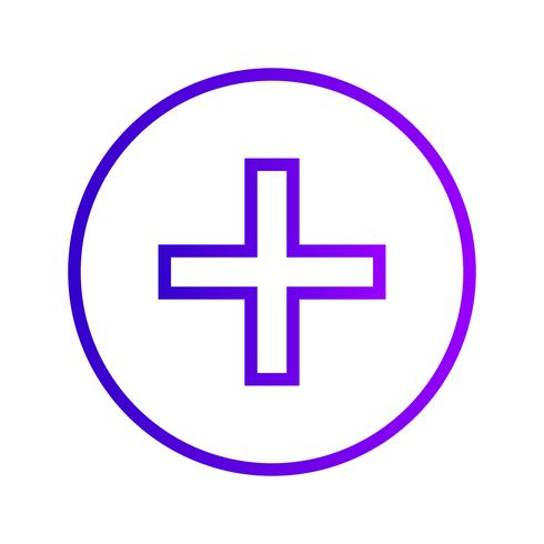 Ícone de sinal médico de vetor