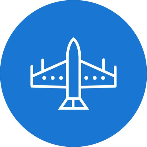 Icône de jet de chasseur de vecteur